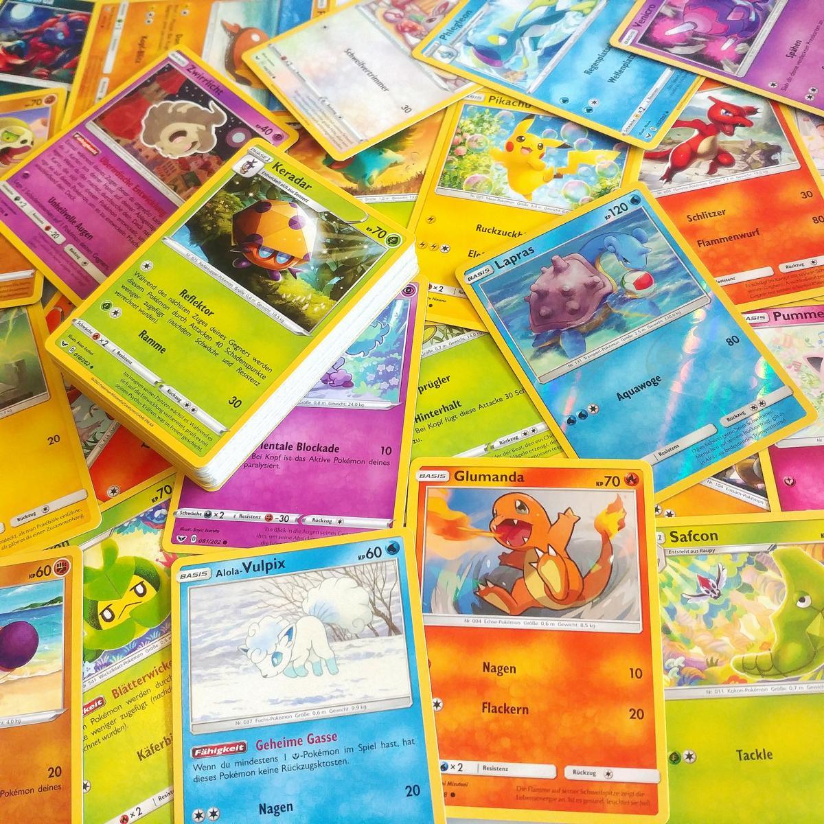 50 Deutsche Pokemon Karten inkl. 1 Holo Karte