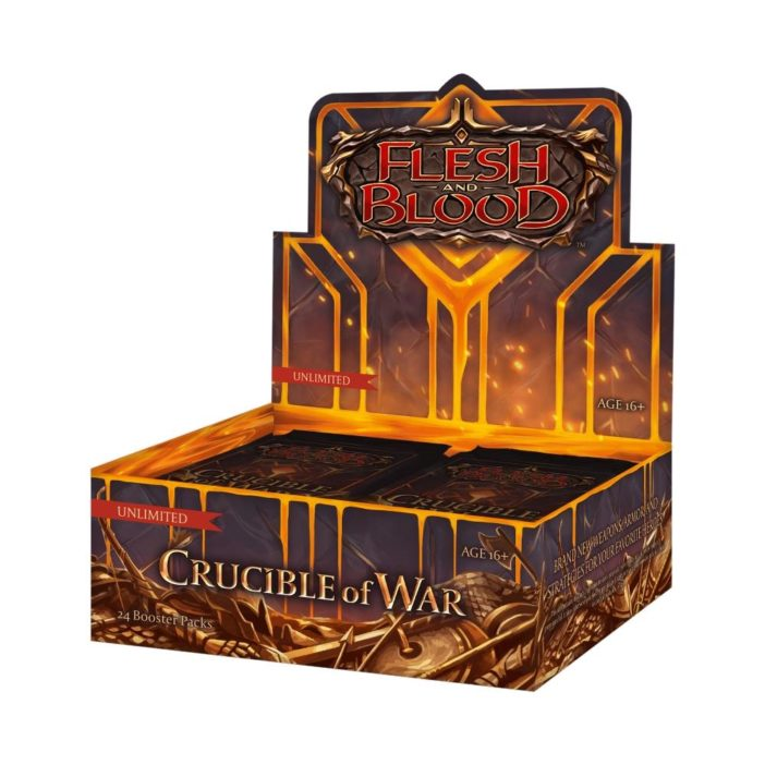 FAB Flesh and Blood Crucible of War Unlimited Booster Display EN