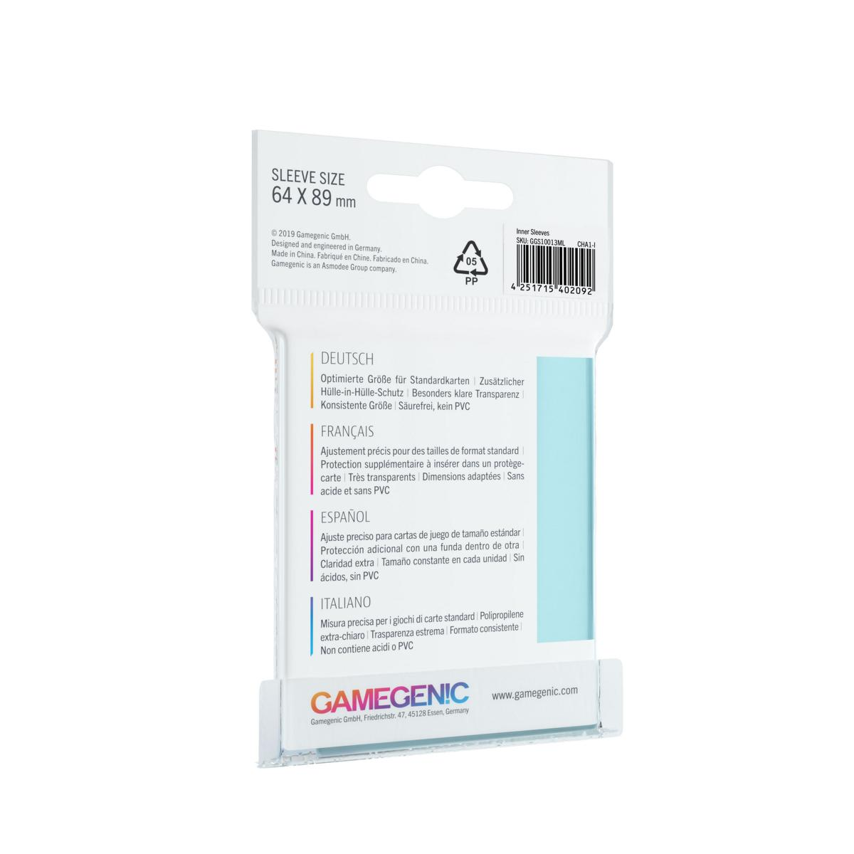 Gamegenic Inner Sleeves 100